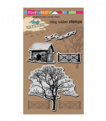 "Stampendous Andy Skinner Cling Stamps 5""X7"" - Nature"
